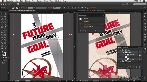 Adding the texture: Type Project: Constructivist Poster