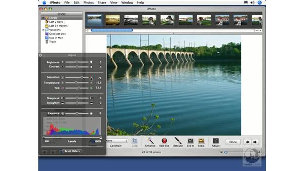 Color Adjustments: iPhoto 5 Essential Training