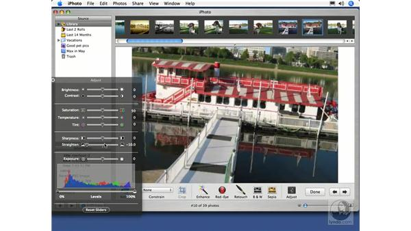 Straightening an Image: iPhoto 5 Essential Training