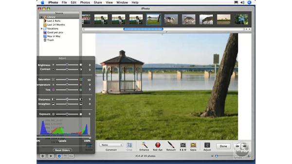Sharpening an Image: iPhoto 5 Essential Training