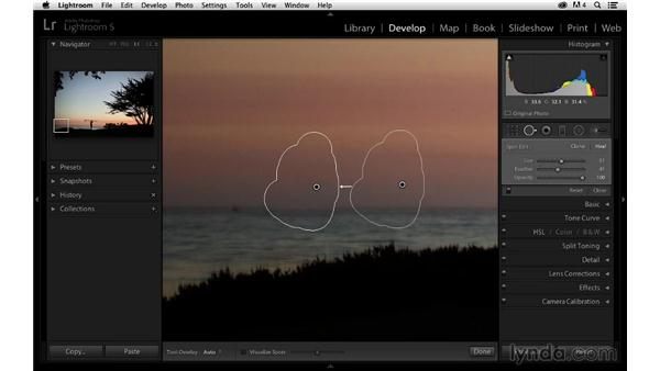 Retouching away distracting elements: Enhancing a Sunset Photograph with Lightroom and Photoshop