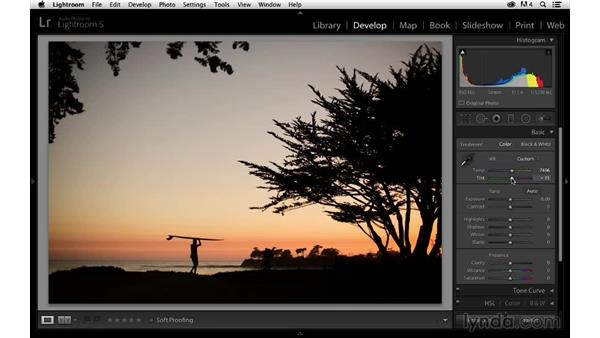 Enhancing the color and contrast: Enhancing a Sunset Photograph with Lightroom and Photoshop