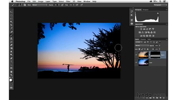 Combining two images together with masking: Enhancing a Sunset Photograph with Lightroom and Photoshop