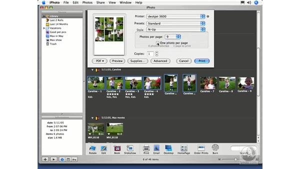 Printing Photos: iPhoto 5 Essential Training