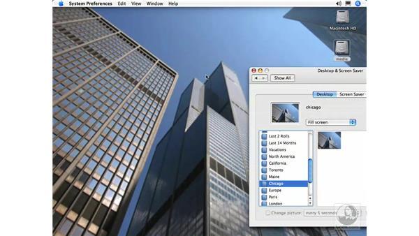 Desktop and Screensaver Photos: iPhoto 5 Essential Training