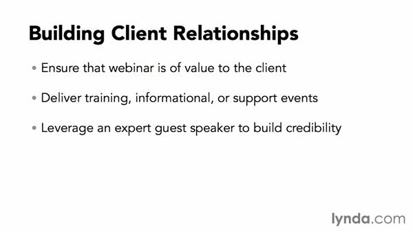 Building client relationships with webinars: Webinar Fundamentals