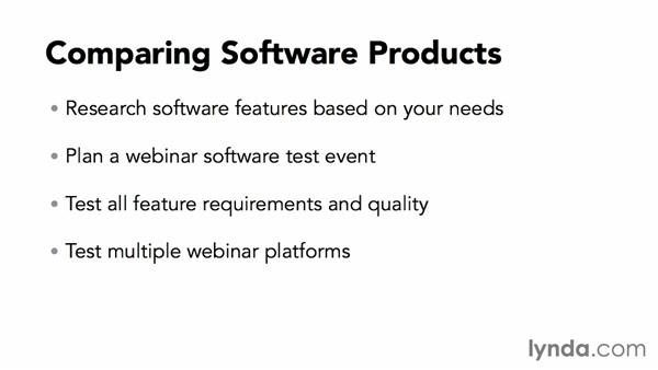 Comparing software products: Webinar Fundamentals