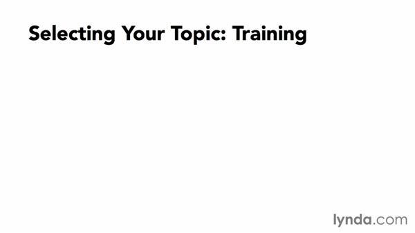 Selecting a webinar topic: Webinar Fundamentals
