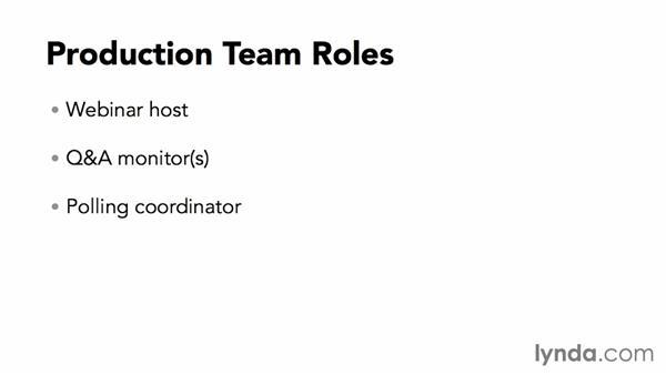 Filling production team roles: Webinar Fundamentals