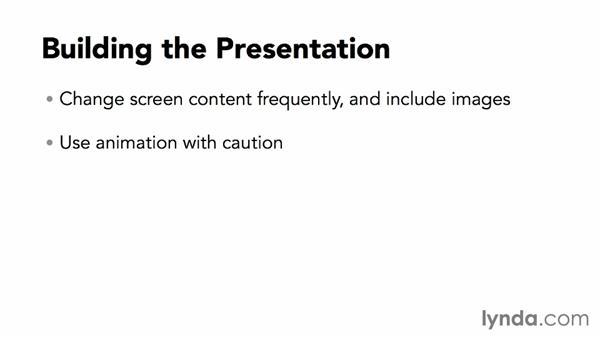 Building the presentation: Webinar Fundamentals