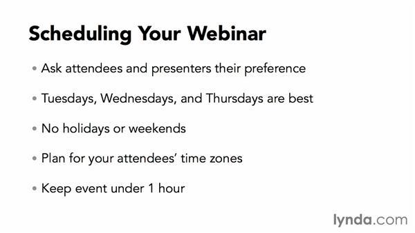 Scheduling your webinar: Webinar Fundamentals
