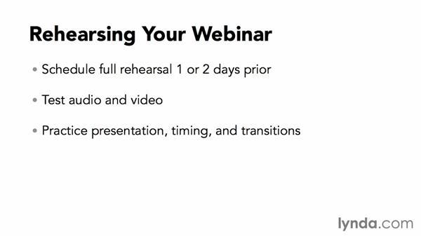 Rehearsing your webinar: Webinar Fundamentals