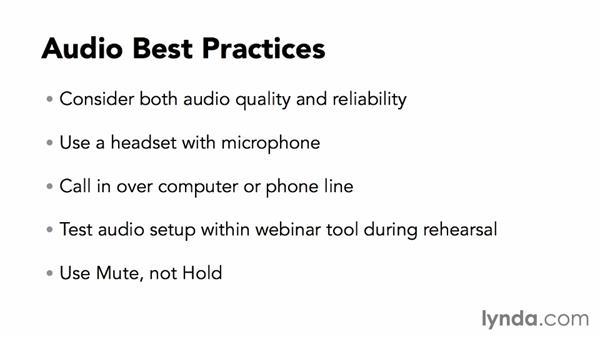 Using audio and video: Webinar Fundamentals