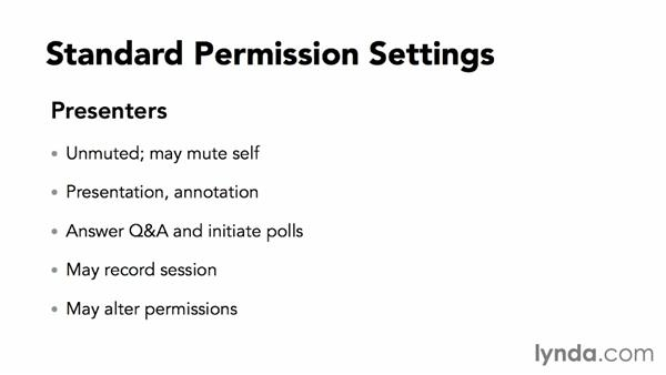Setting attendee and presenter permissions: Webinar Fundamentals