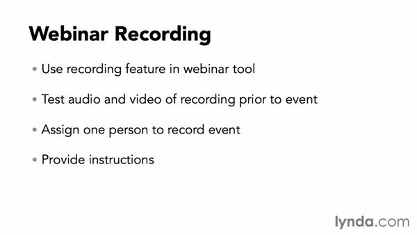 Recording the webinar: Webinar Fundamentals