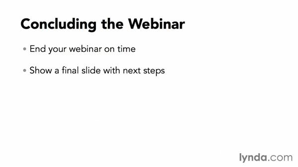 Concluding the webinar: Webinar Fundamentals