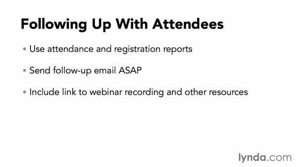 Following up with attendees: Webinar Fundamentals