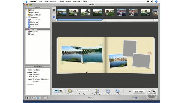 Ordering a Book Part 2: iPhoto 5 Essential Training