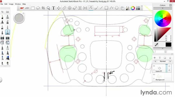 Feasibility and hard points: Sketching an F1 Wheel with SketchBook Pro