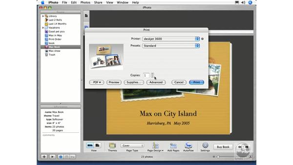 Ordering a Book Part 3: iPhoto 5 Essential Training