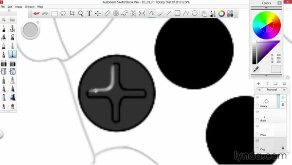 Creating rotary buttons: Sketching an F1 Wheel with SketchBook Pro