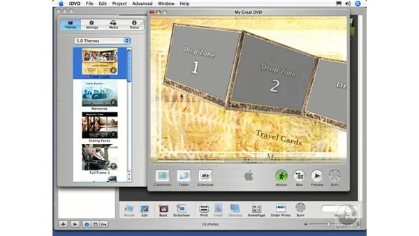 Creating an iDVD Photo DVD: iPhoto 5 Essential Training