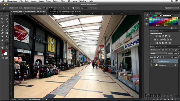 Creating a perspective grid: Working with Perspective in Photoshop