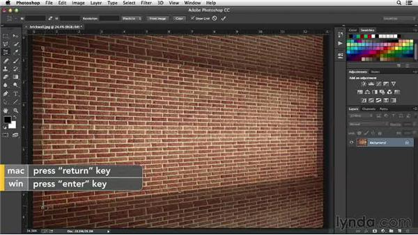Cropping and transforming in perspective: Working with Perspective in Photoshop