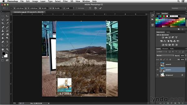 Free Transform: Working with Perspective in Photoshop