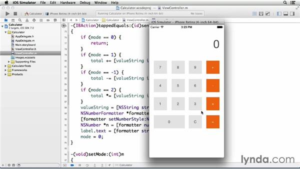 Viewing the finished app: Programming for Non-Programmers: iOS 7
