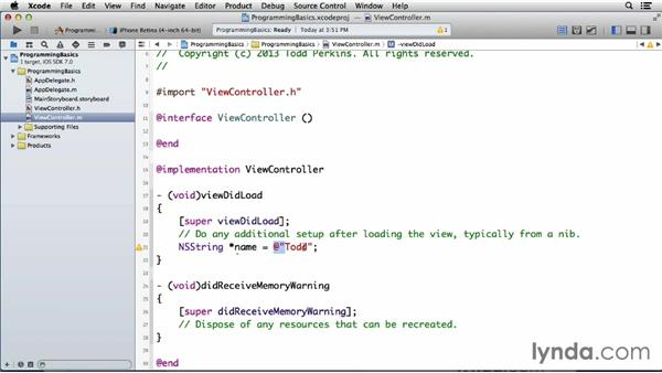 Using pointer variables: Programming for Non-Programmers: iOS 7