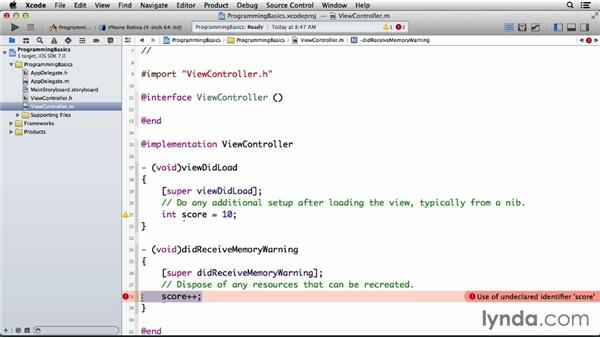 Using instance variables: Programming for Non-Programmers: iOS 7