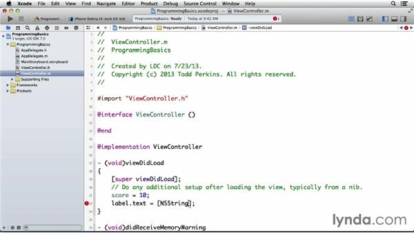 Placing a number variable in a string: Programming for Non-Programmers: iOS 7