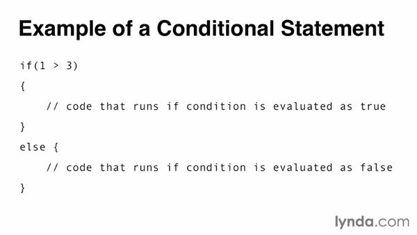 Understanding conditional statements: Programming for Non-Programmers: iOS 7