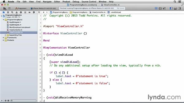 Using conditional statements: Programming for Non-Programmers: iOS 7
