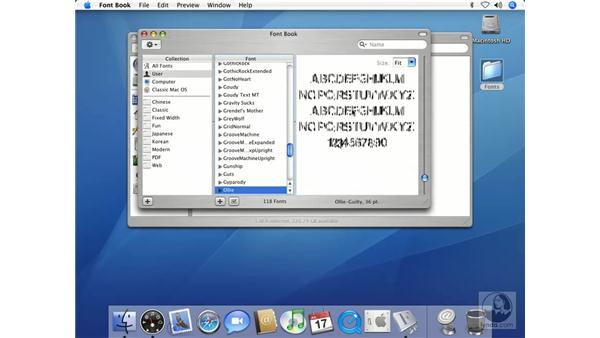 More Fun with Font Book: Mac OS X 10.4 Tiger Beyond the Basics