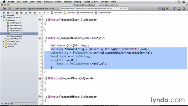 Controlling when tapped numbers should not appear in the calculator: Programming for Non-Programmers: iOS 7