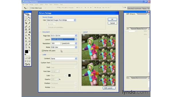 Saving Paper and Money with Picture Package: Photoshop CS2 Essential Training