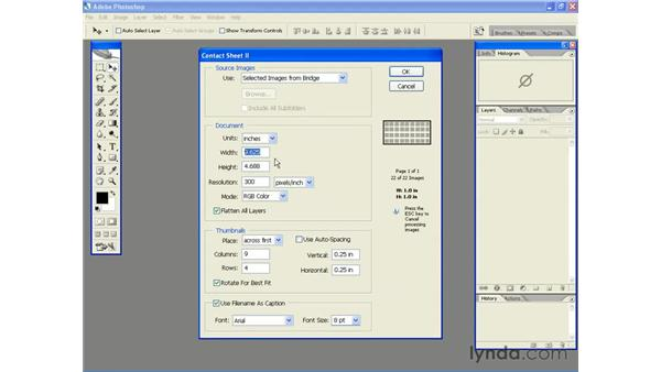 Creating a Contact Sheet: Photoshop CS2 Essential Training