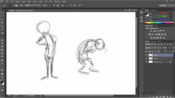 Creating gesture drawings: 2D Animation Principles