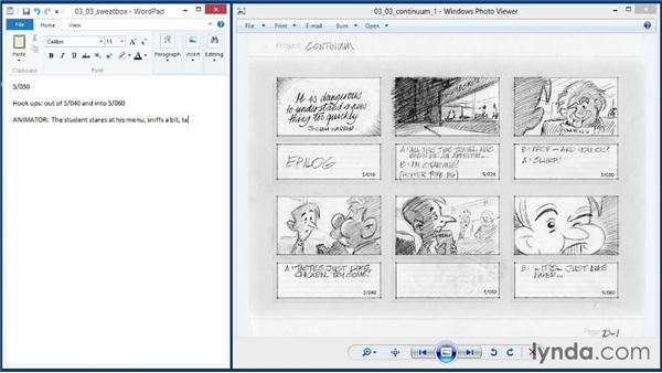 Creating sweatbox notes and preparation: 2D Animation Principles