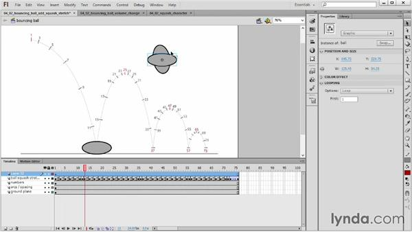 Squash, stretch, and volume: 2D Animation Principles