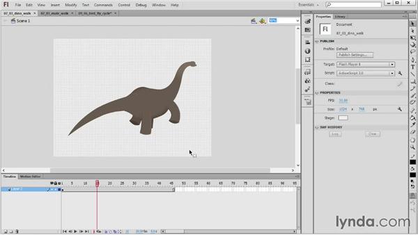 Animal locomotion: 2D Animation Principles