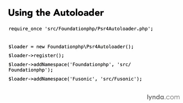 Autoloading classes: Exporting Data to Files with PHP
