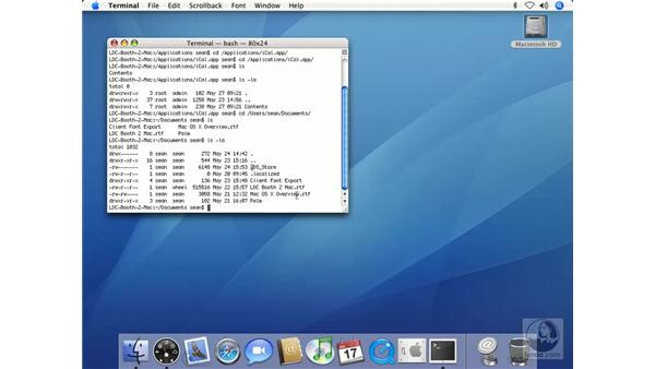 Listing Directory Contents in Terminal: Mac OS X 10.4 Tiger Beyond the Basics