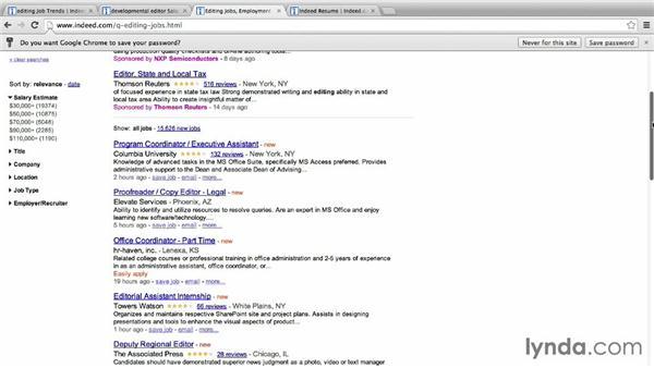 Using Indeed: Job Hunting Online