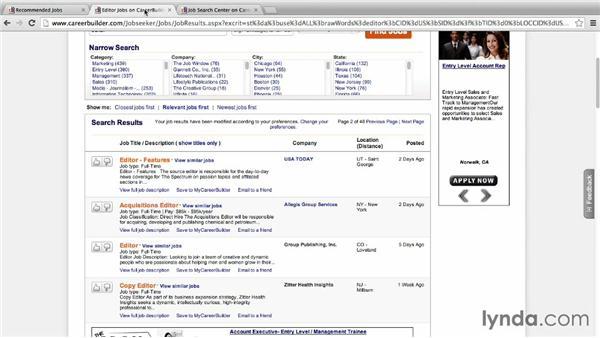 Using CareerBuilder: Job Hunting Online
