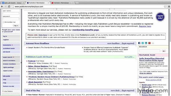 Using industry-specific job boards: Job Hunting Online