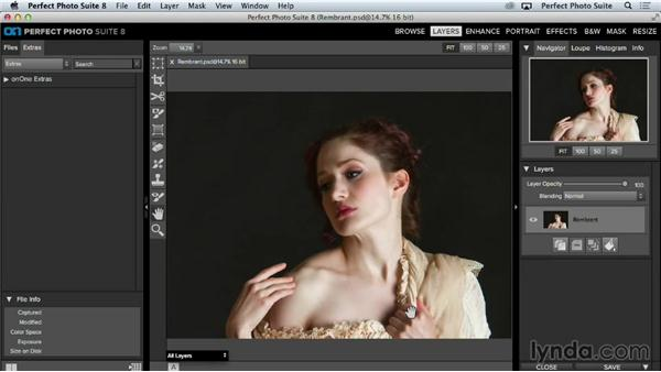 Importing media into the Layers module: Up and Running with Perfect Photo Suite 8