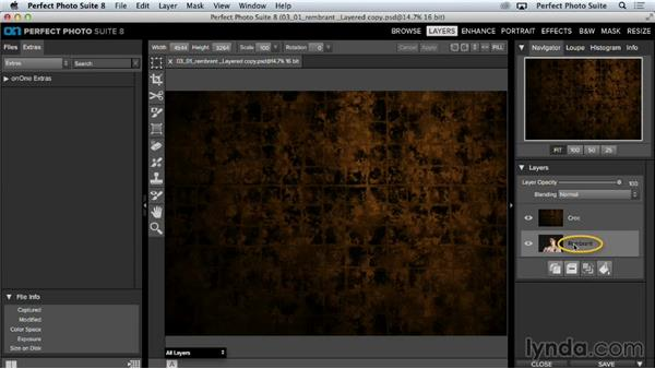 Organizing and transforming layers: Up and Running with Perfect Photo Suite 8